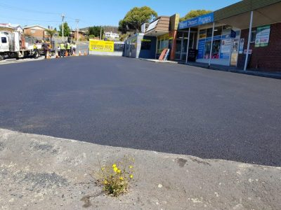 Commercial property asphalt shopping car park gold coast