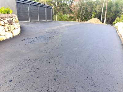Shed turning area asphalt pad gold coast